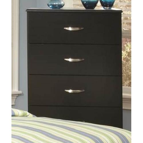 Jacob Collection 4-Drawer Chest in Stipple Black Finish
