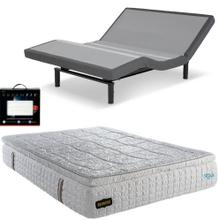 Leggett & Platt S-Cape 2.0 Adjustable Bed, Bedboss Crown Hybrid Mattress, set of Dreamfit Sheets