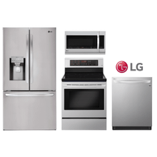 LG Kitchen Package w/French Door Smart Refrigerator in Stainless Steel