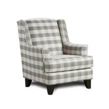 Fusion Plaid Winged Accent Chair