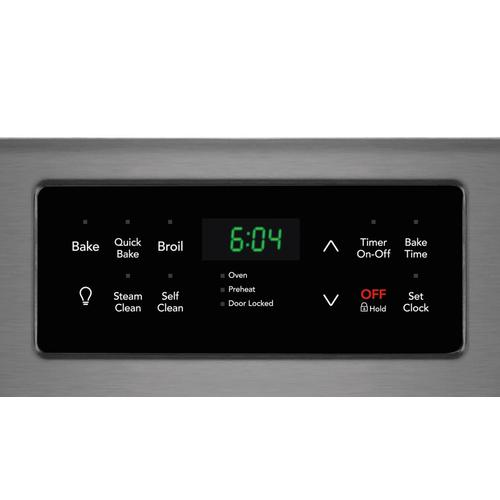 """Frigidaire Black Stainless 30"""" Gas Range with Convection"""