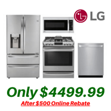 View Product - LG Kitchen Suite with Convection Slide-in Stove and 4-Door 28 Cu. Ft. Refrigerator