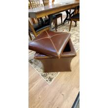 All Leather Ottoman with Storage, 1 ONLY at this price!