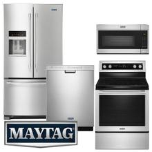 Maytag Premium 4-piece Kitchen Suite with Fingerprint Resistant Stainless Steel Finish