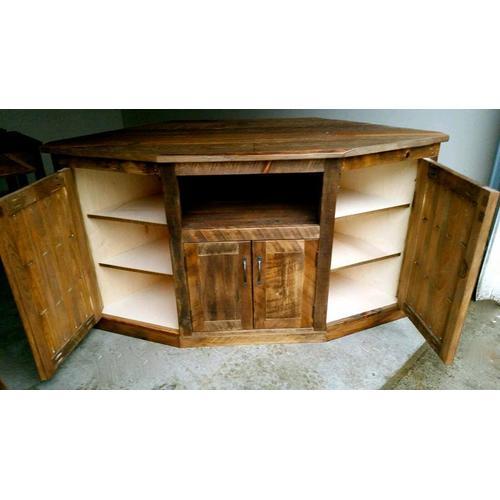Reclaimed Barnwood Corner TV Cabinet