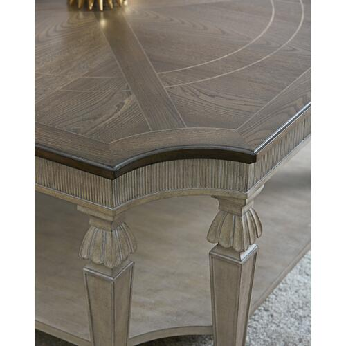American Drew Savona 2 Piece Set:  Square Cocktail & Rectangle End Table