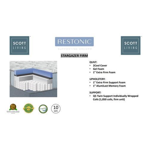 Restonic - Stargazer Twin Mattress Set-Firm