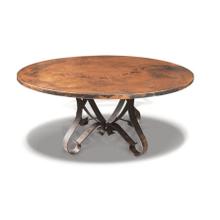 Jackson Hole Dining Table & Iron Metal Base