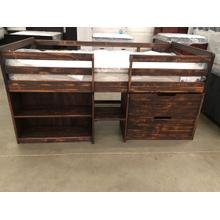 See Details - Twin Loft Bed Rustic