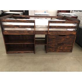 Twin Loft Bed Rustic