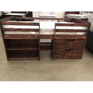 Reno - Twin Loft Bed Rustic