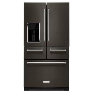 Kitchenaid 25.7CF Black Stainless French Door Product Image