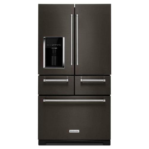 Kitchenaid 25.7CF Black Stainless French Door