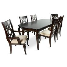 Steve Silver Mallory 7pc Dining (1 Table 4 S/CH Chairs 2 A/CH )
