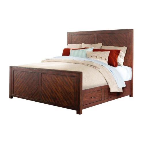 Elements - 9Pc. Jax Rustic Queen Storage Bedroom Group
