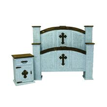 Turquoise Cross Queen Bedroom