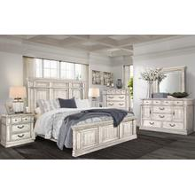 See Details - Madrid King Bed, Dresser, Mirror, Chest and Nightstand