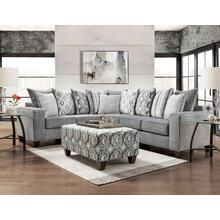 2-Piece Stonewash Char Sectional