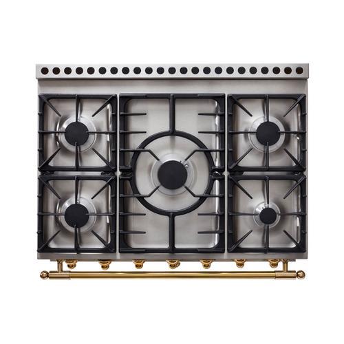 Lacornue Cornufe - Stainless Steel Albertine 90 with Satin Chrome Accents