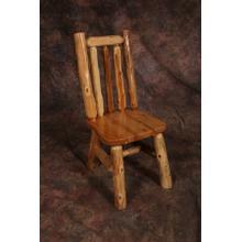 White Cedar Log Side Chair