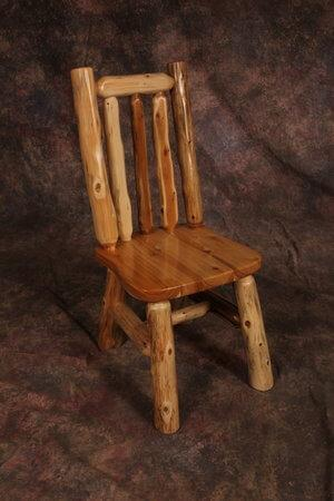 Cozy Creations Collection - White Cedar Log Side Chair