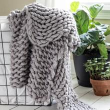 See Details - Chunky Knit Throw