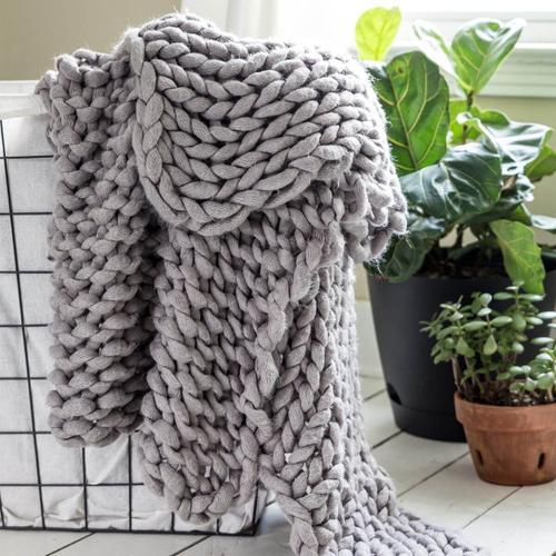 Chunky Knit Throw