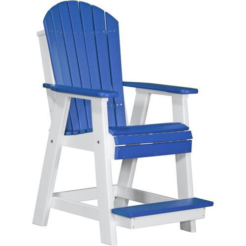Adirondack Balcony Chair Blue and White