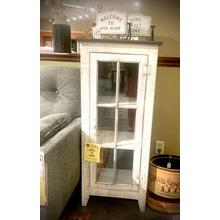 See Details - RUSTIC SLATE WHITE DISPLAY CABINET           (80-RT,53031)