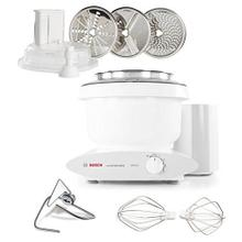 Bosch Universal Plus Stand Mixer with Large Slicer Shredder Attachment, White
