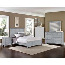 King Gray 4 PC Bedroom Set - Panel Bed