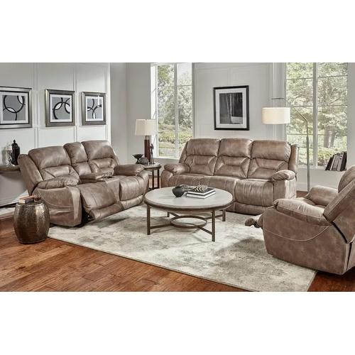 Desert Mushroom Full Power Reclining Sofa & Loveseat