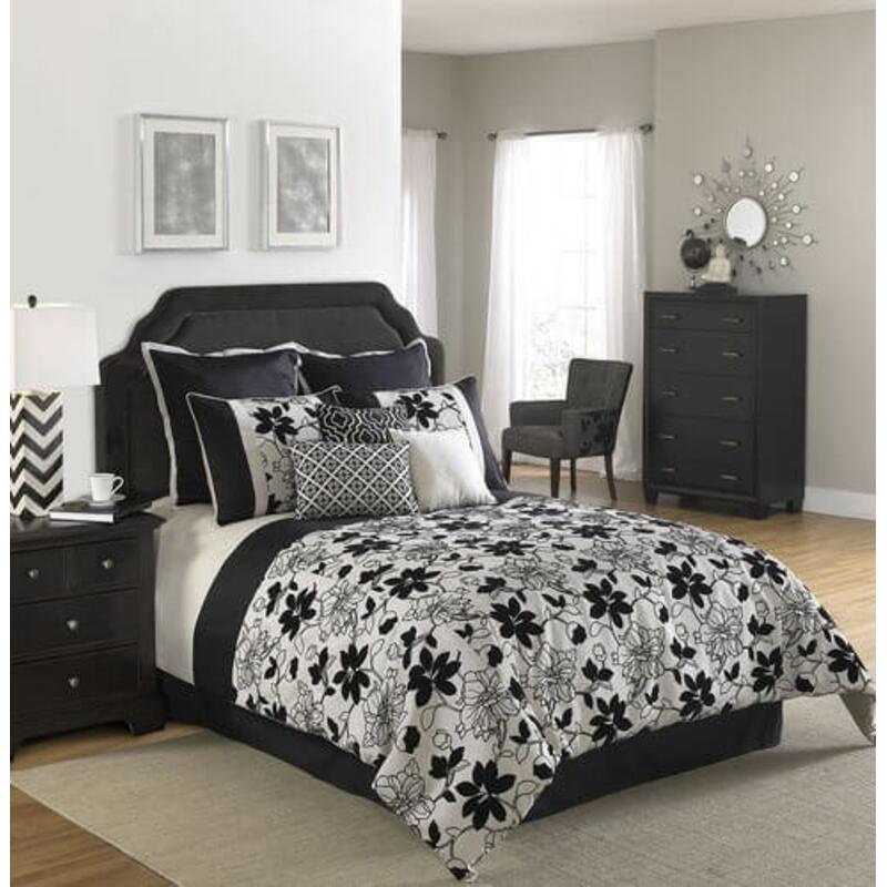 Ebony & Ivory Comforter King 10pc
