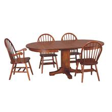 Mission Oval Pedestal Dining Set