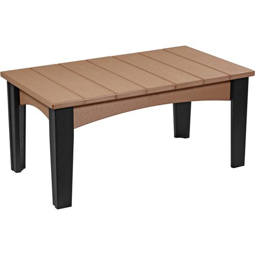 Island Coffee Table Cedar and Black