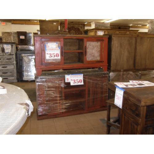 Gallery - red tv console