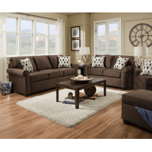 View Product - Sofa and Loveseat - Chocolate