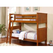 Belfort Twin over Twin Bunk Bed - Rustic Pecan