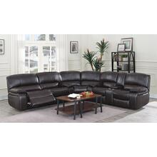 Uncle Dave's Special Leather Reclining Love Seat w/ Console (part of sectional)