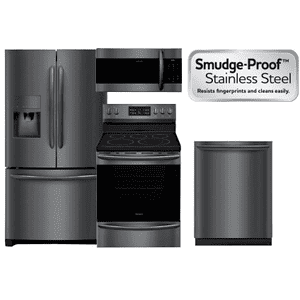 Frigidaire Black Stainless Package