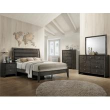 CrownMark 4 Pc Queen Bedroom Set, Gray Evan B4720