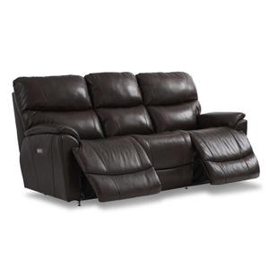 La-Z-Boy - Trouper Leather Reclining Sofa in Walnut       (440-724 LB172779,44991)