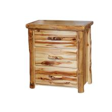 3 Drawer Chest Flat Front Wild Panel Natural Log