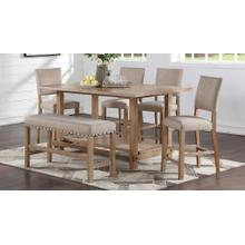 6 PC Auburn Honey Counter Height Pub Set