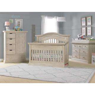 Luciano Convertible Crib Groupset - White-Washed Pine