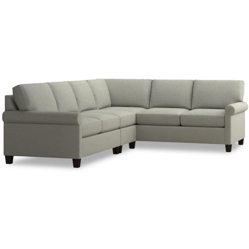 Bassett Furniture - Spencer Left Sectional - Seamist Fabric