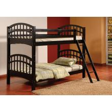 TWIN / TWIN BLACK BUNK BED