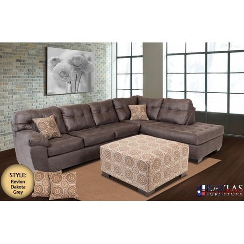 Kaylas Furniture - Revlon Dakota Sectional Set - Gray