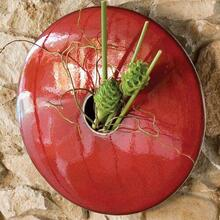 Discus Wall Vase-Red