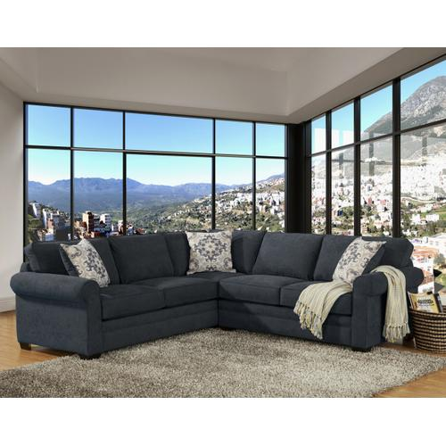 Comfort Industries - Lexi 2 Pc. Sectional Slate